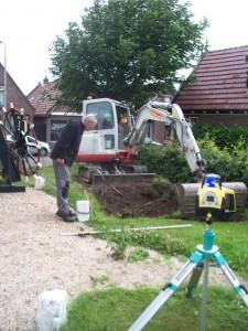 Uitgraven voor de fundatie